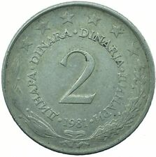 COIN / YUGOSLAVIA / 2 DINARA 1981 BEAUTIFUL COLLECTIBLE   #WT31682