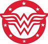 Window Wall Vehicle Vinyl sticker 80s Super Hero Wonder Woman Logo Decal Display