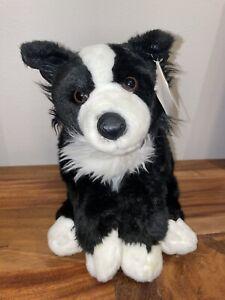 Toys R Us Animal Alley Border Collie Black & White Puppy Dog Plush No Tag