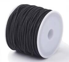(0,90€/1m) Elastische Schnur 10Meter 1.5mm für Armbänder Schmuck DIY, Rund Perle