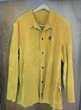 Welding Jacket Size M Golden Brown Heavy Leather