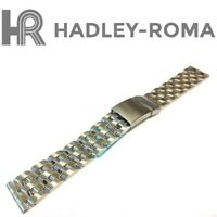20mm HADLEY-ROMA MB4436W SE 20 SOLID STAINLESS STEEL LINK BRACELET WATCH BAND