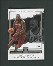 2017-18 Panini Impeccable LeBron James Cleveland Cavaliers 46/49