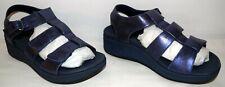 Vionic Pacific Tami Metallic Platform Wedge Sandal Navy Women's Size 10W New