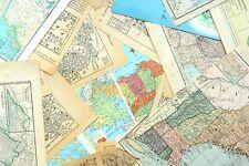 1/4 Lb Bundle of Vintage Map & Atlas pages/paper ephemera for journals, collage