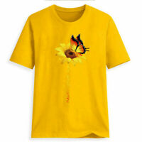 Women Plus Size Summer O-Neck Sunflower Print Short Sleeve T-shirt Blouse Tops