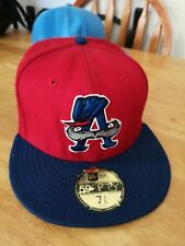 New Era Flat Brim 59FIFTY  red   and blue 7 1/4 Fitted Cap