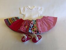 """Lot 7 Doll Clothes fit 18"""" American Girl Doll Pink Skirt Set Doll Pink Shoes #9"""