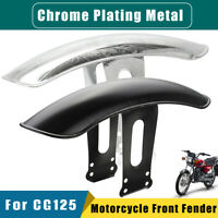 Metal Motorcycle Front Fender Mudguard Mud Sand Guard For Honda CG125 Chrome //