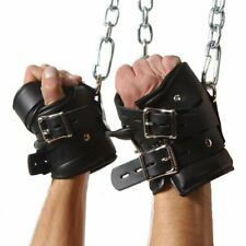 Strict Leather Premium Suspension Wrist Hand Cuffs Bondage Black Play Restraints