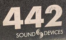 SOUND DEVICES 442 Broadcast stereo Field Mischer mit Akkufach