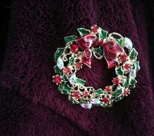 Crystal Christmas reef brooch  birthday christmas wedding bridesmaid 989