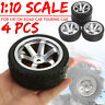 4 PCS/Set For 1:10 On Road Racing Touring Car RC Tires and Wheels Rim 12mm