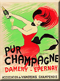 French Deco Wine Kitchen Refrigerator Magnet Champagne
