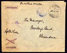 "EGYPT-BRITAIN 1942 MILITARY BRITISH MAIL ""EGYPT 61-28.JUL.42 POSTAGE PREPAID"""
