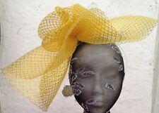 gold fascinator millinery burlesque wedding hat hair piece ascot race bridal