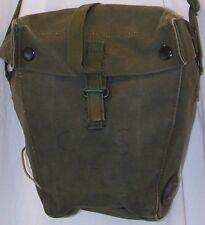 British SAS S6 olive green canvas gas mask bag w adjustable shoulder strap each