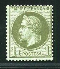 """FRANCE  N°  25   """" NAPOLEON  III  1c BRONZE """" NEUF X  TB."""