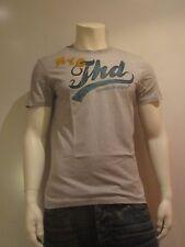 Tommy Hilfiger Denim Felix 6 Tgl L Uomo T-shirt Stampa Maglietta grigia