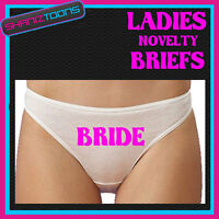 WOMENS KNICKERS PERSONALISED BRIDE HEN PARTY NIGHT