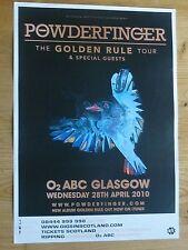 Powderfinger - Glasgow april 2010 tour concert gig poster