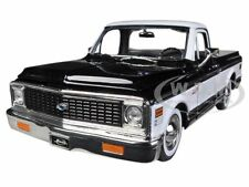 1972 CHEVROLET CHEYENNE PICKUP TRUCK BLACK 1/24 DIECAST CAR MODEL BY JADA 96865