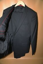 #111  Hugo Boss Amaro Heise Red Label NAVY Suit Size 40 R