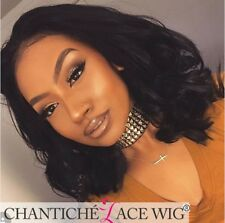 """10"""" Short Natural Wave Front Lace Wig Brazilian Remy Human Hair Wigs for Women"""