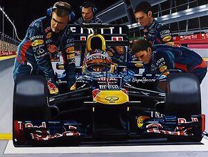 Sebastian Vettel  70x90 cms limited edition F1 art print by Colin Carter