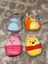 """Squishmallows Complete Set WINNIE The POOH EEYORE PIGLET TIGGER NWT 7.5"""""""