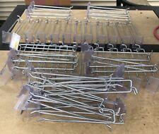 (50 Pack) 8 Inch Flip Scan Metal Peg Hooks w/ Label Holder 3/16 & 1/4 Pegboard