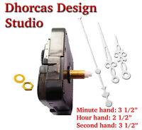 "(#012) Quartz Clock Movement 3/4"" threaded LONG SHAFT & 3.5"" hand"
