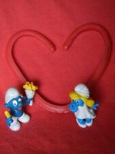 Valentine's Day Collectibles: Smurfs,1980 boy French Fries& gal Dreamy Smurfette