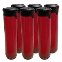"""Virtue PF165 """"Press Flick"""" Locking Lid Paintball Pods - Red (6-Pack)"""