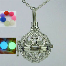 Glow Ball Cage Locket Necklace For Fragrance Essential Oil Aromatherapy Diffuser