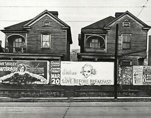 1936 Original WALKER EVANS Lombard Movie Film Billboards Atlanta Photo Art 11x14