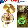 Portable Compass Brass Keychains Watch Pocket Outdoor Camping Hiking Navigation
