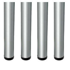 4x Brushed ChromeLEGS 820mm Adjustable Worktop/Support/Table/Kitchen Round ø60mm