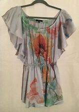WOMEN'S S, FLORAL, EMBELISHHED BLOUSE BY SOPRANO!