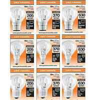10 X HALOGEN GOLF BALL ROUND LOW ENERGY SAVING LIGHT BULBS  DIMMABLE BC ES SES
