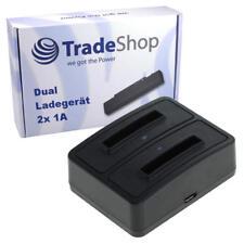 Dual Doppel Akku Ladegerät Ladestation für Doro Phone Easy 332 332GSM 330GSM