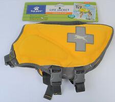 New Top Paw Yellow Neoprene Reflective Dog Life Jacket Size M 30-55 lbs