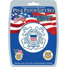 EagleEmblems Dis0010 United States Coast Guard Pin & Patch Gift Set