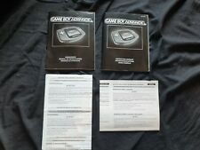 Nintendo Gameboy Advance Official Manual Booklets