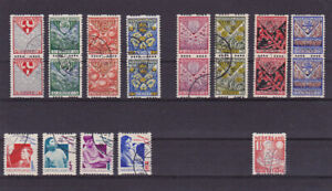 Nederland/Holland: lot of old coil stamps in pairs, and more – Look at scan!!