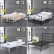Single Double Metal Bed Frame 3FT 4FT6 Adult Kids Bedroom Furniture