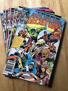 Secret Wars 8-issue lot 1 2 3 6 7 9 10 11, Newsstands, 1st app Beyonder Titania