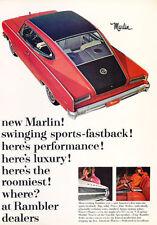 1965 AMC MARLIN OPTIONAL 327 V-8  ~  CLASSIC ORIGINAL PRINT AD