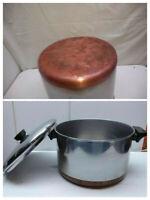 Pick 1] Revere Ware Stainless Copper Clad 4 Qt-8 Qt Stock Pot Pan Skillet & Lid