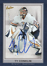 TY CONKLIN OILERS AUTOGRAPH AUTO 05-06 BEEHIVE #35 *22005